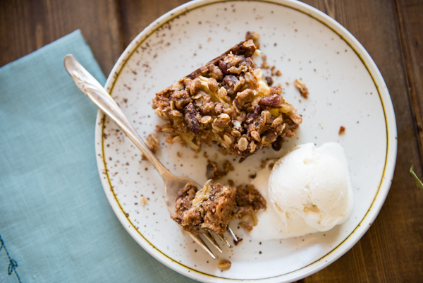 Apple Pecan Oat Bars