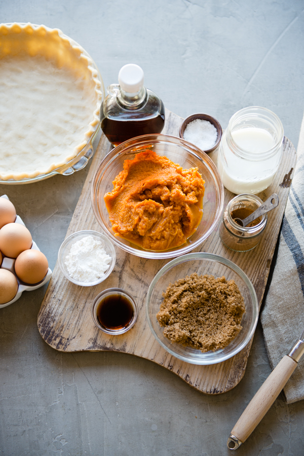 Buttermilk Pumpkin Pie ingredients