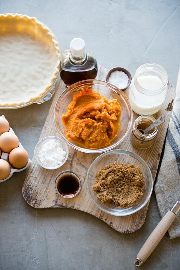 Buttermilk Pumpkin Pie ingredients
