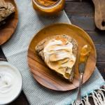 Gluten-Free Buckwheat Teff Scones and Persimmon Butter and Vanilla Creme Fraiche