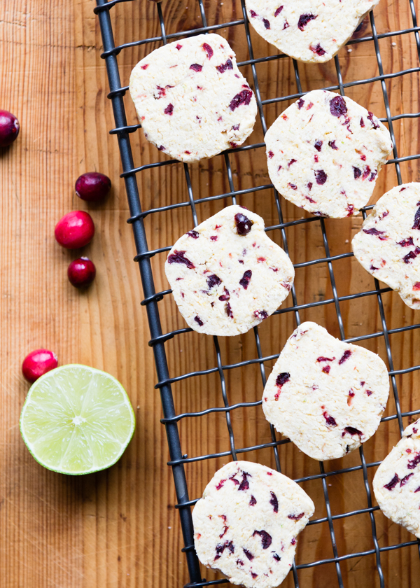 Gluten Free Cranberry Lime Cornmeal Cookies Recipe