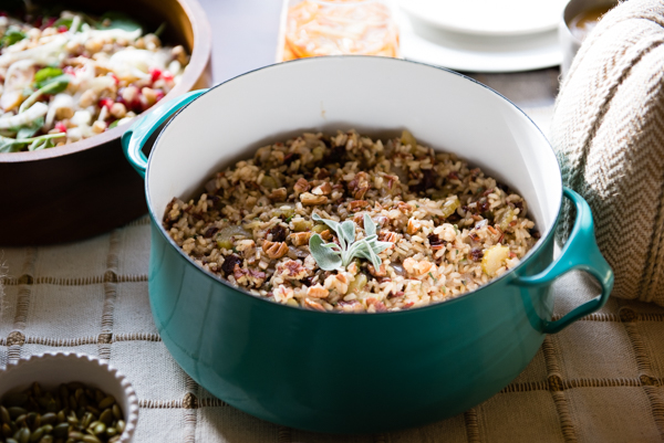 Brown Rice Dressing with Cherries and Pecans