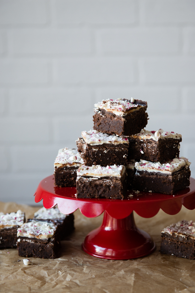 The BEST Gluten-Free Peppermint Bark Brownies