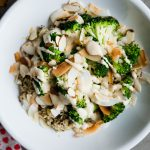 Coconut Quinoa Bowls with Roasted Broccoli and Miso Tahini Sauce