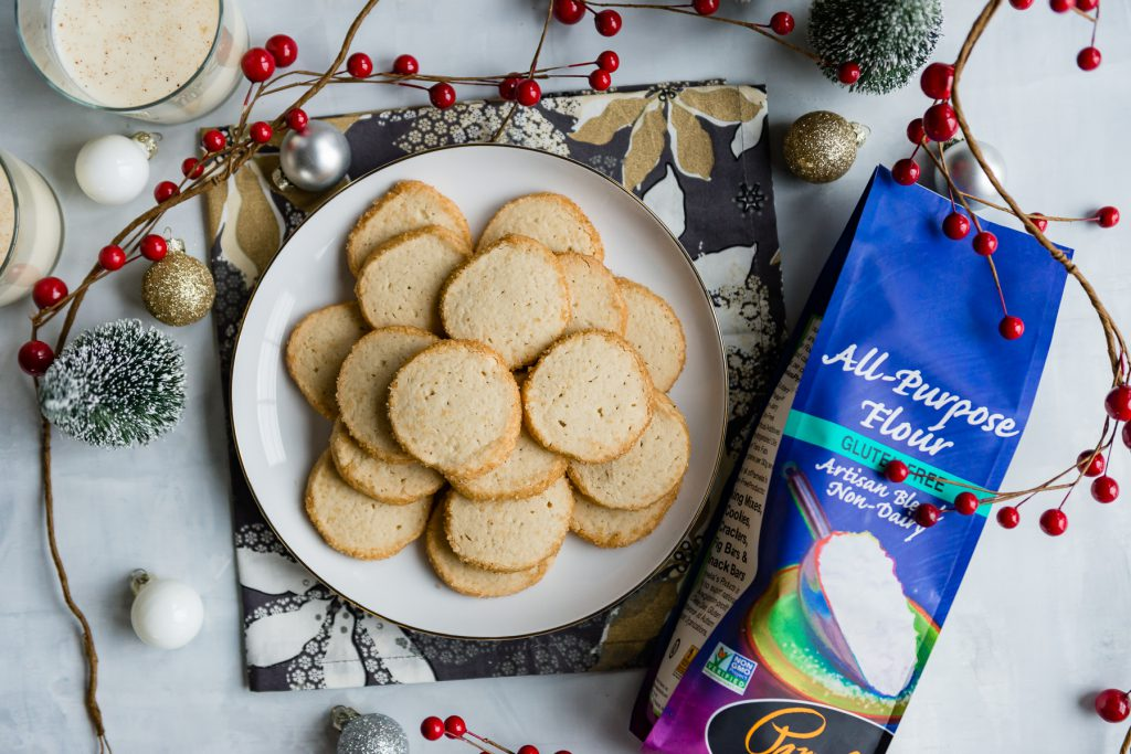 Egg Nog Spiced Gluten-Free Slice and Bake Cookies | cafejohnsonia.com