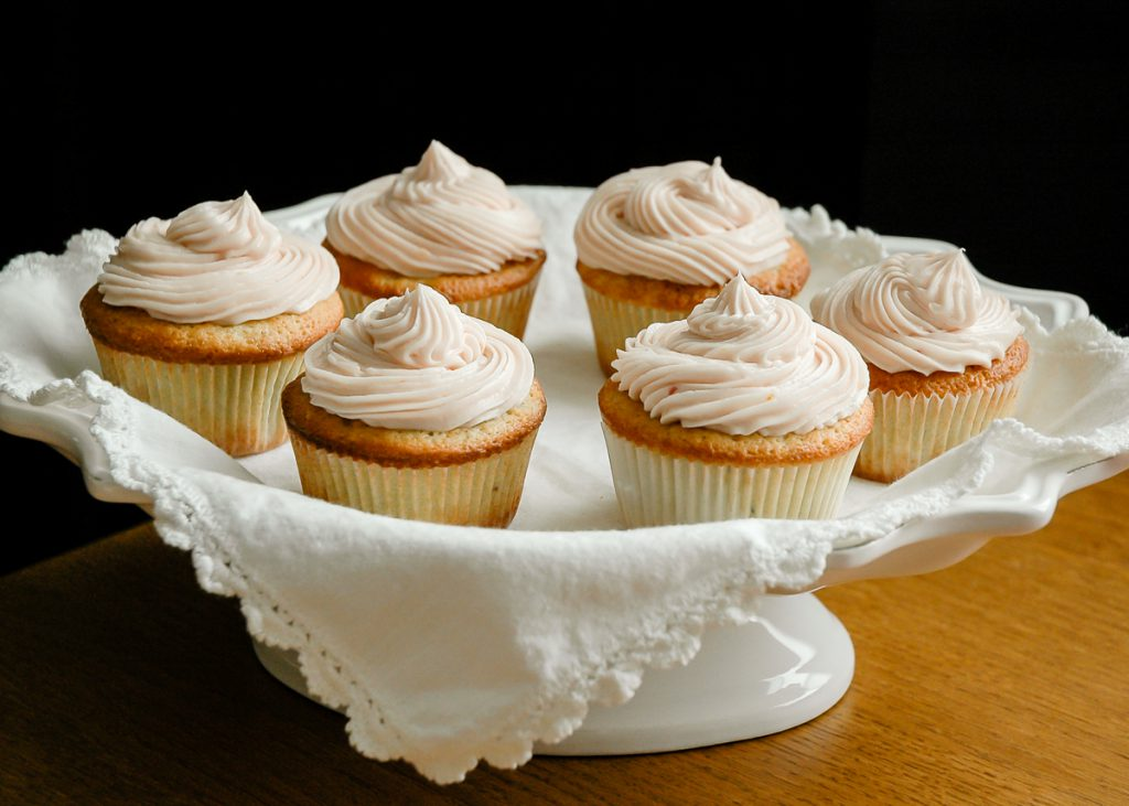 Blood Orange Cupcakes with Faux Meringue Buttercream | CafeJohnsonia.com