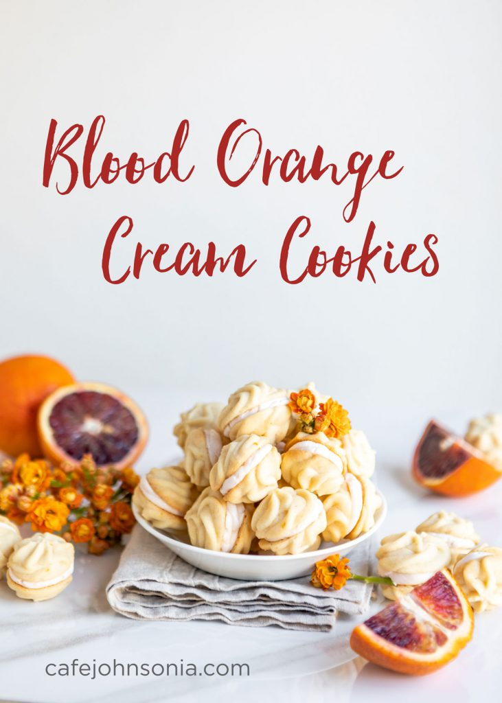 Blood Orange Cream Cookies | CafeJohnsonia.com