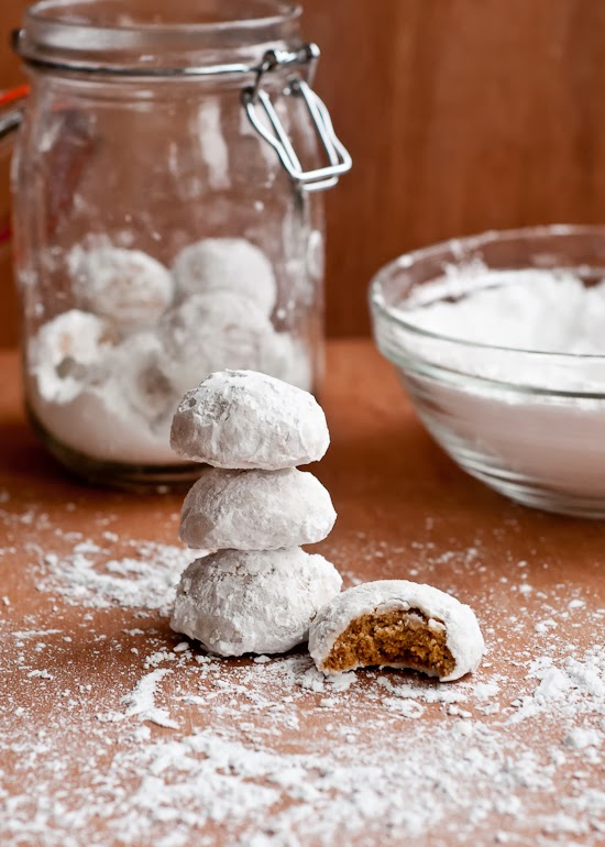Chai Spiced Snowball Cookies Gluten Free And Vegan