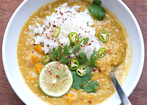 Coconut Lentil Soup with Lemongrass and Ginger | Cafe Johnsonia