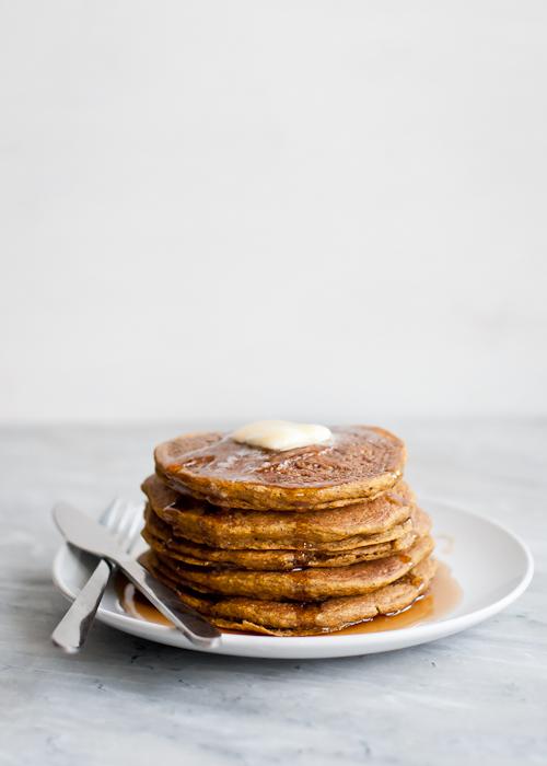 Whole Grain Gluten-Free Pumpkin Pancakes | Cafe Johnsonia