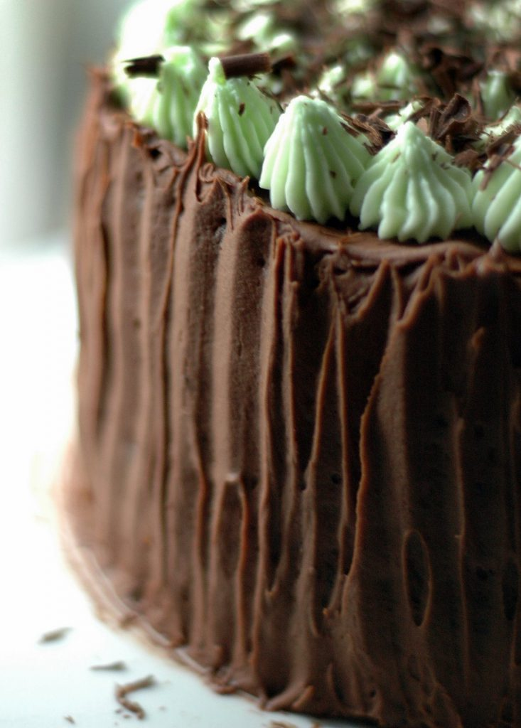 Chocolate Mint Cake with White Chocolate Ganache Filling | CafeJohnsonia.com