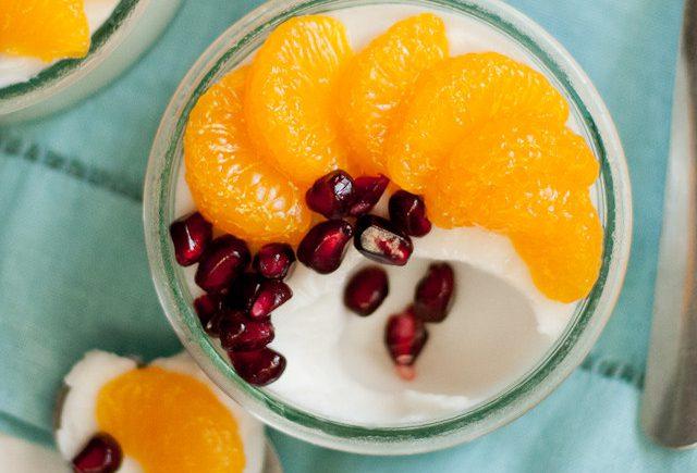 Tembleque de Coco with Mandarin Oranges and Pomegranate | CafeJohnsonia.com