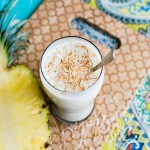 roasted pineapple coconut milkshake