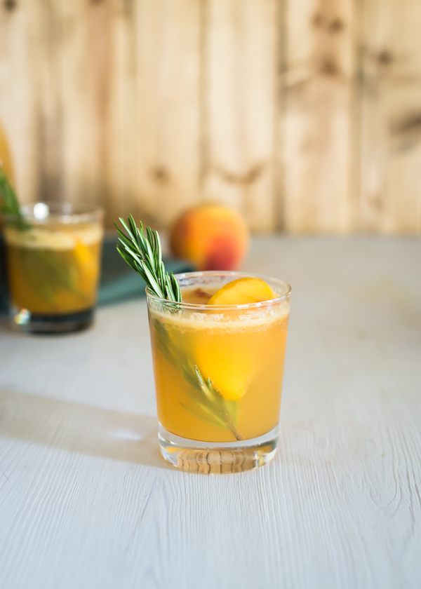 Peach + Rosemary Two Ways