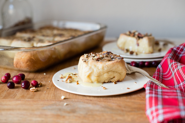 Gluten-Free Pecan Cranberry Sweet Rolls with White Chocolate Glaze | cafejohnsonia.com #glutenfree #pecan #cranberry #sweetrolls