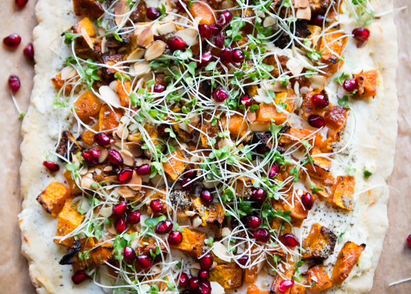 Gluten-Free Holiday Appetizer | Butternut Squash Goat Cheese Flatbread