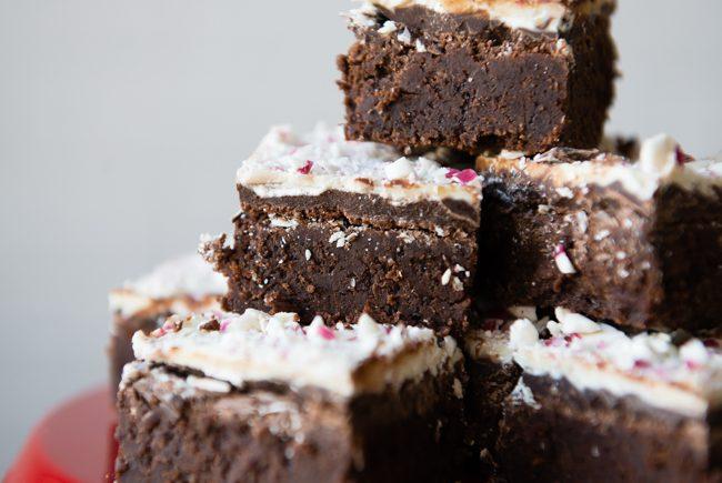 Gluten-Free Peppermint Bark Brownies