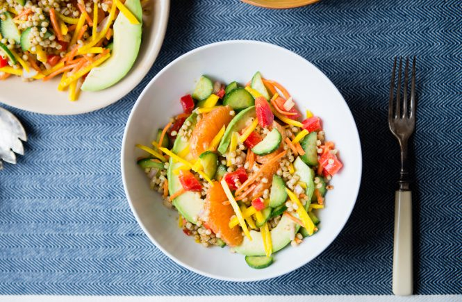 Sorghum Vegetable Salad with Cumin-Lime Vinaigrette | cafejohnsonia.com